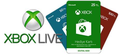 XBox Live Hediye Kartı TL - Microsoft Store Hediye Kartı