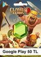 Google Play 50 TL Clash Of Clans Google Play 50 TL Satın Al