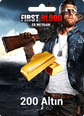 First Blood: Er Meydanı 200 Altın 200 Gold Satın Al