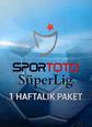 Süper Lig Paketi 1 Haftalık Digiturk Play Web, Mobile ve Tablet üzerinden izlenebilir. Satın Al