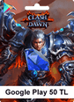 Google Play 50TL Clash of Dawn Google Play 50TL Satın Al