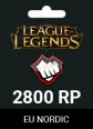 League Of Legends Eu Nordic 2600 RP + 200 Bonus RP