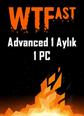 WTFast Advanced 1 Aylık 1 Pc