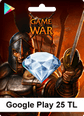 Google Play 25TL Game Of War Google Play 25TL Satın Al