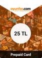 Oyunfor Prepaid Card 25TL 25TL Bakiye Satın Al