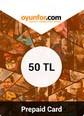 Oyunfor Prepaid Card 50TL 50TL Bakiye Satın Al