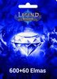 Legend Online Reborn 600 +60 Elmas 600 + 60 Elmas (Reborn versiyonudur, Legend Online de çalışmaz) Satın Al