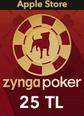Apple Store 25TL Zygna Poker Mobil Apple Store 25TL Satın Al