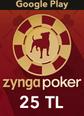 Google Play 25TL Zygna Poker Mobil Google Play 25TL Satın Al