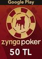 Google Play 50TL Zygna Poker Mobil Google Play 50TL Satın Al