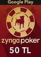 Zygna Poker Mobil Google Play 50TL