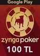 Google Play 100TL Zygna Poker Mobil Google Play 100TL Satın Al