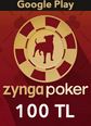 Zygna Poker Mobil Google Play 100TL