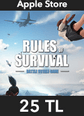 Rules of Survival Elmas Apple Store 25 TL