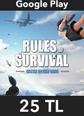Rules of Survival Elmas Google Play 25 TL