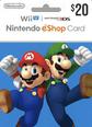 Nintendo eShop Gift Cards US 20 Dolar