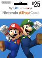 Nintendo eShop Gift Cards UK 25 GBP
