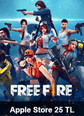 Garena Free Fire Apple Store 25 TL Bakiye