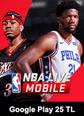 Google Play 25 TL NBA LIVE Mobile Basketball Google Play 25 TL Satın Al