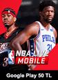 NBA LIVE Mobile Basketball Google Play 50 TL Bakiye