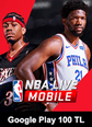 NBA LIVE Mobile Basketball Google Play 100 TL Bakiye