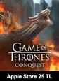 Apple Store 25 TL Bakiye Game Of Thrones Conquest Apple Store 25 TL Bakiye Satın Al