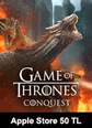 Apple Store 50 TL Bakiye Game Of Thrones Conquest Apple Store 50 TL Bakiye Satın Al