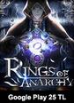 Rings Of Anarchy Google Play 25 TL Bakiye