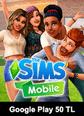 The Sims Mobile Google Play 50 TL Bakiye 50 TL Google Play Bakiye Satın Al