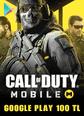 Call Of Duty Mobile (CP) Google Play 100 TL Bakiye