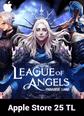 League of Angels Paradise Land Apple Store 25 TL Bakiye