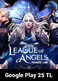 League of Angels Paradise Land Google Play 25 TL Bakiye 25 TL Google Play Bakiye Satın Al