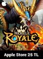 Mobile Royale Crystals Apple Store 25 TL Bakiye 25 TL iTunes Bakiye Satın Al