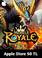 Mobile Royale Crystals Apple Store 50 TL Bakiye