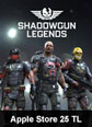 Shadowgun Legend Mobile Apple Store 25 TL 25 TL iTunes Bakiye Satın Al
