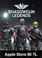 Apple Store 50 TL Shadowgun Legend Mobile Apple Store 50 TL Satın Al