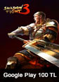 Shadow Fight 3 Mobile Google Play 100 TL
