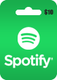 Spotify Gift Card 10 USD Spotify $10 USD Gift Card Satın Al