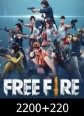 Free Fire 2200 + 220 Elmas 2420 Elmas Satın Al